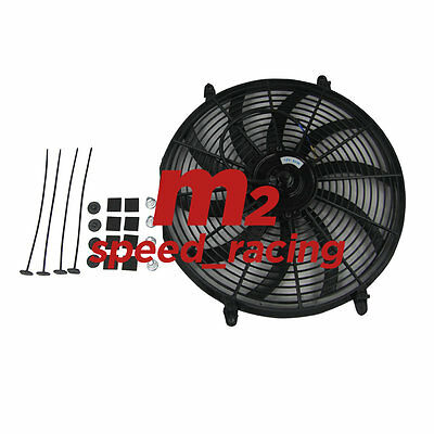 """1PCS 16"""" INCH Curved Push Pull Radiator Cooling 12v Electric Radiator Fan"""
