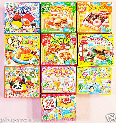 Kracie Popin Cookin Happy Kitchen 10 Boxes Set Japanese Candy Kit Sushi New Gift