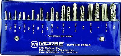 Morse Cutting Tools 37103 Tap and Drill Set, NC Series, High Speed Steel, #103