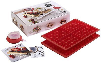 Lékué Waffle Kit with 2 Waffle Mould and a Decopen