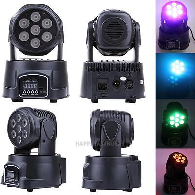 1Pc 140W RGBW 7 LEDs Moving Head Light For DJ Club Party KTV Stage Pattern Lamp