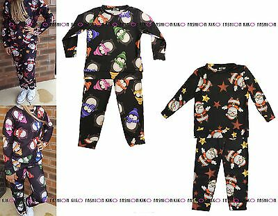 Kids Children Boys Girls Santa Penguin Xmas Festive Christmas Jumper Lounge Wear