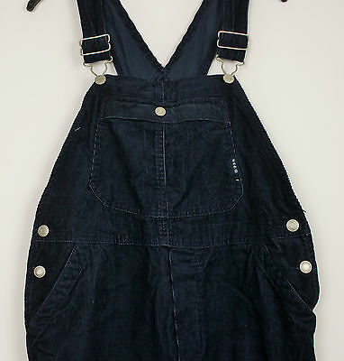 VTG TEENAGE GIRLS GAP NAVY CORDUROY DUNGAREES URBAN FESTIVAL 90s GRUNGE