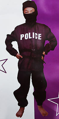 Costume Policeman Face Covered with Balaclava - Falco Carnival Dress