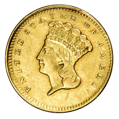 1861 $1 Gold Indian Princess One Dollar **priced Right!**