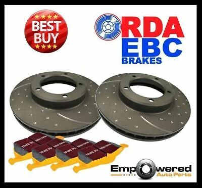 DIMPLED SLOTTED FRONT DISC BRAKE ROTORS+TRACK PADS for Falcon BA XR6 XR6T XR8