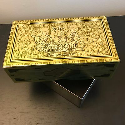 Yugioh Tcg: Legendary Decks Ii - Empty Gold Storage Box - Yugi Joey Kaiba