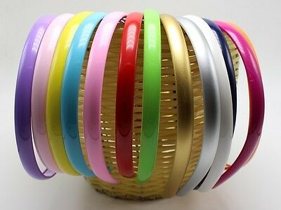 """10 Mixed Color Plastic Hair Band Headband 12mm(1/2"""") Hair Accessories"""
