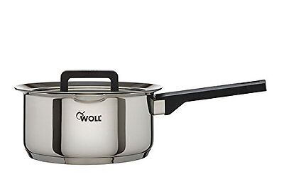 Woll Stainless Steel SaucePan Casserole Pan With Glass Lid (20cm) 3.0L