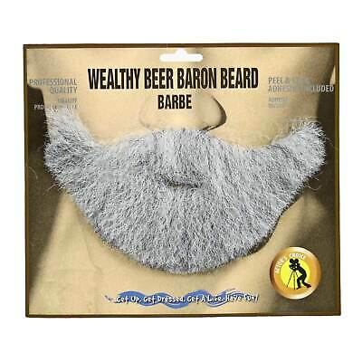 Men's Most Interesting Man in the World BEER Costume Beard and Mustache Gray