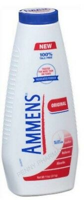 Ammens Medicated Powder ORIGINAL 11oz TALC FREE ( red )