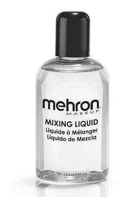 Mehron MIXING LIQUID 133ml-Mix with Gem-Metallic Powder-Make Eyeliner-Eyeshadow