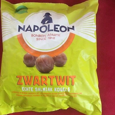 Dutch Licorice ZWART / WIT SALMIAK KOGELS / SALMIAK BALLS  Big 1 Kg bag
