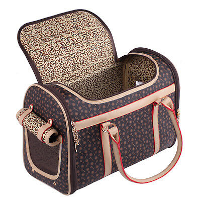Large Folding Collapsible Pet Carrier Dog Kitty Puppy Piggy Chihuahua Travel 19