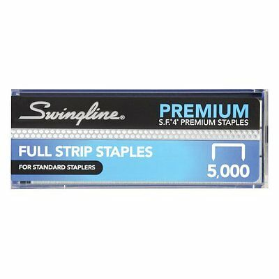 Swingline Staples, Premium, S.F. 4, 0.25 Inch Length, 210 Per Strip, 5,000 Per