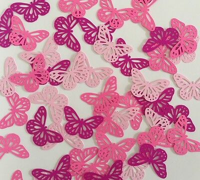 Martha Stewart Butterfly Punch Scrapbooking 50 Pcs Pink Tone Cardstock Confetti