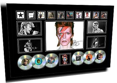 David Bowie Signed Limited Edition Framed Memorabilia