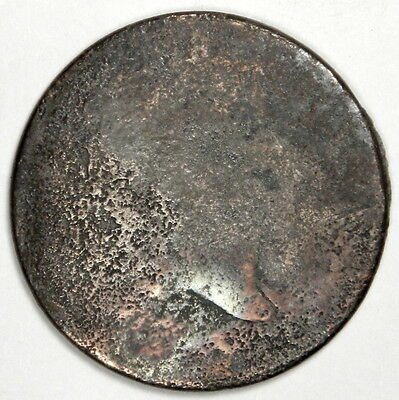 1797 Liberty Cap Half Cent - No Date, Plain Edge - Priced Right!