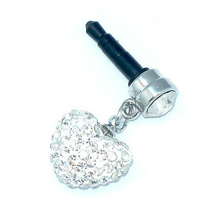 iPhone or any mobile phone heart dust plug. Bling up your phone with a shamballa
