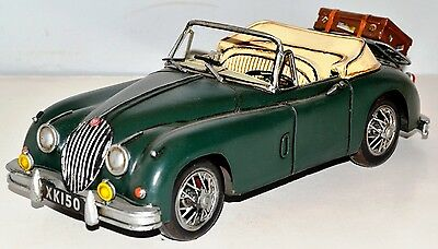 Car Jaguar XK 150 Tin Car Vintage Metal Model Tin Model Car 31 cm 37046