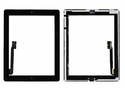Black Glass Touch Screen Digitizer W/ Home Button Assembly for iPad 3 4 4th Gen