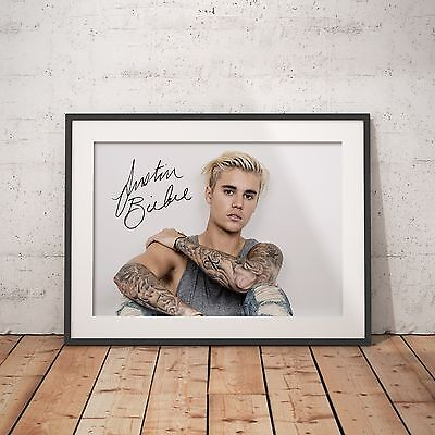 JUSTIN BIEBER SIGNED - A4 Glossy Poster - FREE Shipping