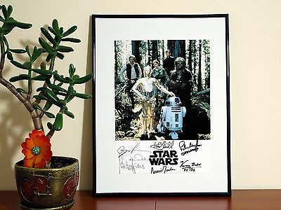 STAR WARS ORIGINAL 1977 CAST SIGNED - A4 Glossy Poster - FREE Shipping