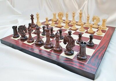 "The Camelot Royal Knight Staunton Luxury Chess Pieces Set with 108mm (4.25"") ..."
