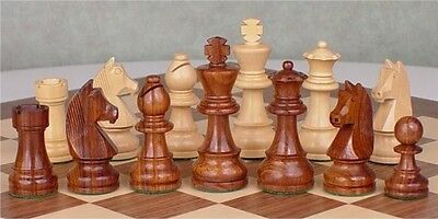 "The Championship Staunton Chess Pieces Set with 95mm (3.75"") King in Golden R..."