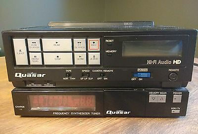 Vintage Quasar VP5748XE VHS Video Cassette Recorder + Frequency Tuner VA546XQ