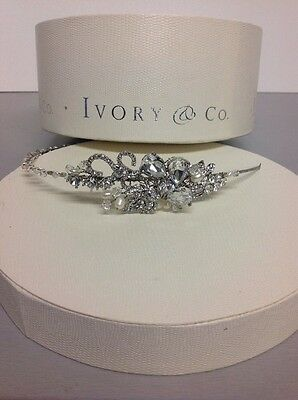 Ivory And Co Wedding Headband Comb Tiara Bridal Crystal Silver - Lucille