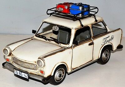 Trabant GDR Vintage Tin Car Metal Model approx. 29 cm 37406