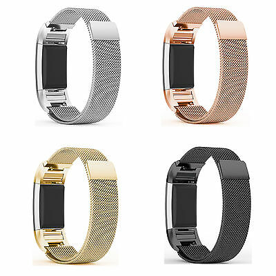 Fitbit Charge 2 Replacement Magnetic Loop Strap Stainless Steel Wrist Band