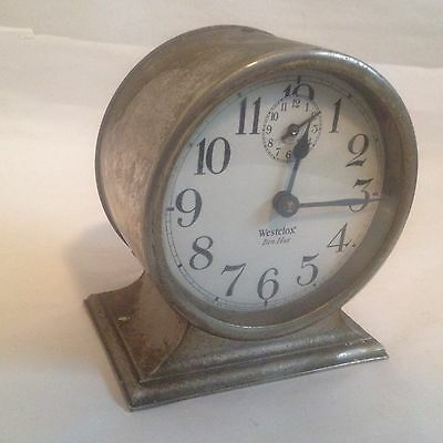 Vintage WESTCLOX BEN HUR 1927 WIND-UP ALARM CLOCK Art Deco Working