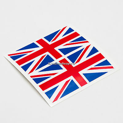 2x UK BRITISH FLAG Union Jack Laminated Car,Window,Bumper Vinyl Decal Stickers