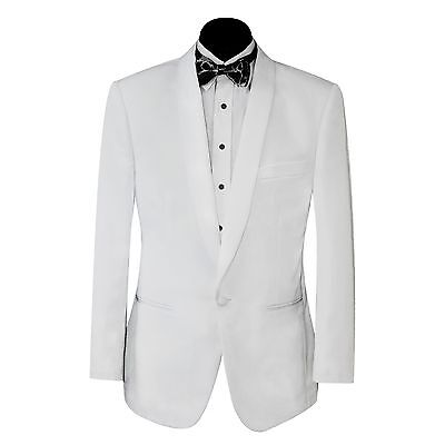 New Mens White Shawl Lapel Tuxedo Jacket