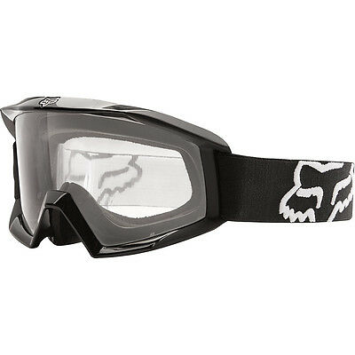 NEW Fox Racing MX Kids Main Black Dirt Bike Clear Lens Youth Motocross Goggles