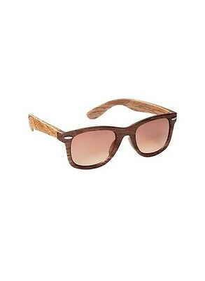 GAP Baby / Toddler Boy / Girl NWT Wayfarer Retro Sunglasses - Brown Wood Grain