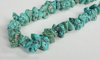 Vintage Turquoise & Coral Necklace with Barrel Shape Clasp
