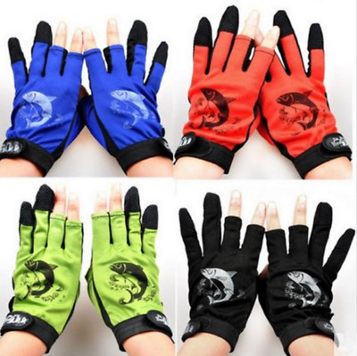 1Pair Fishing Wear Gloves Half+Full Fingers Anti Slip Outdoor Sailing Gloves AU