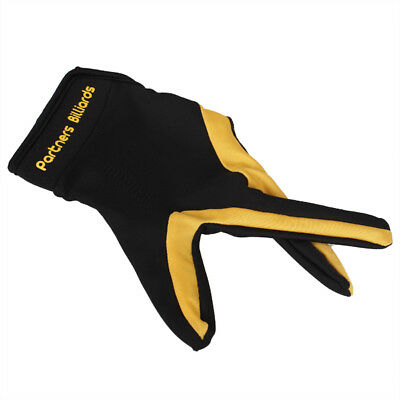 3 Finger Billiard Glove --Yellow Black