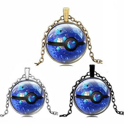Pokemon go Jewelry Pokeball Game Lovely Squirtle Pendant Necklace Digimon Anime