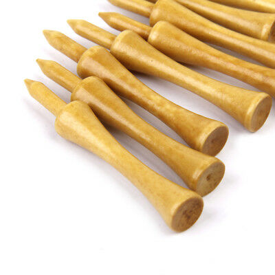 Professional Wooden Castle/Step Golf Tees 69MM Long 100 Lot Burlywood Bulk
