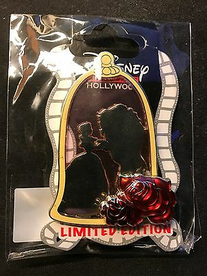 Beauty and the Beast Silhouette Stained Glass Disney Pin LE 300 (Flawed)