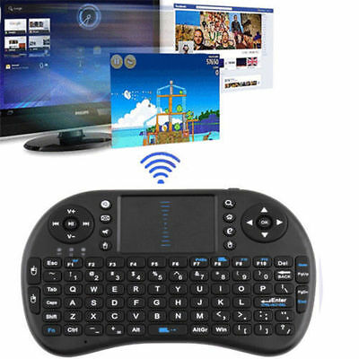 2.4G Wireless Remote Air Keyboard Mouse Qwerty Touchpad XBMC Android TV BOX PC #