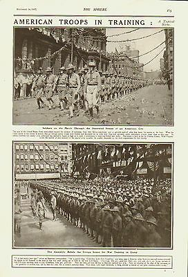 American Troops in Training.Sphere.1917.United States Army.Americana.Military