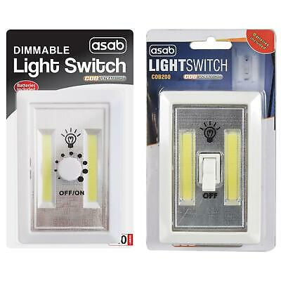 2W COB LED Light Dimmer Switch Super Bright Night No Wires Powered Portable