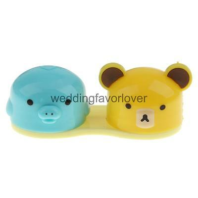 Animal Head Cute Contact Lens Holder Travel Portable Kit Holder Case Box