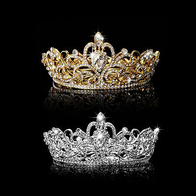 Rhinestone King Crown Tiara Wedding Pageant Bridal Diamante Headpiece Jewelry