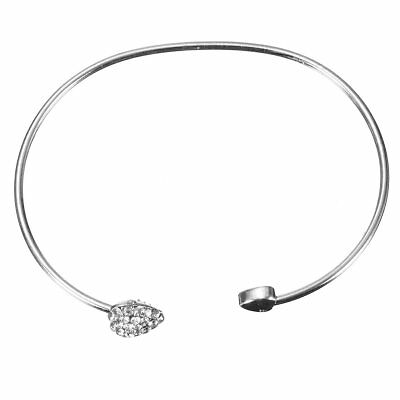 Jewelry Adjustable Metal Heart Bracelet Gift for Little Girl Child silver F6